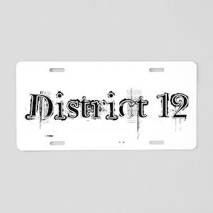 District 12 Aluminum License Plate