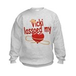 Vicki Lassoed My Heart Kids Sweatshirt