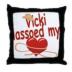 Vicki Lassoed My Heart Throw Pillow