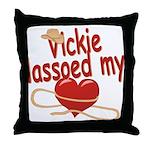 Vickie Lassoed My Heart Throw Pillow