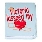 Victoria Lassoed My Heart baby blanket