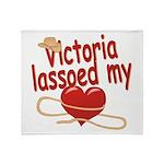 Victoria Lassoed My Heart Throw Blanket