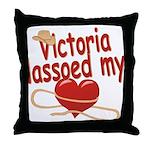 Victoria Lassoed My Heart Throw Pillow