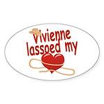Vivienne Lassoed My Heart Sticker (Oval)