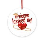 Vivienne Lassoed My Heart Ornament (Round)
