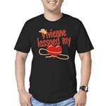 Vivienne Lassoed My Heart Men's Fitted T-Shirt (da