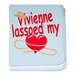 Vivienne Lassoed My Heart baby blanket