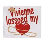 Vivienne Lassoed My Heart Throw Blanket