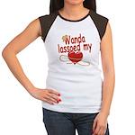 Wanda Lassoed My Heart Women's Cap Sleeve T-Shirt