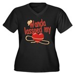 Wanda Lassoed My Heart Women's Plus Size V-Neck Da