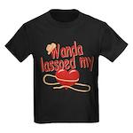 Wanda Lassoed My Heart Kids Dark T-Shirt