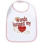 Wanda Lassoed My Heart Bib