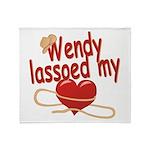 Wendy Lassoed My Heart Throw Blanket