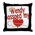 Wendy Lassoed My Heart Throw Pillow