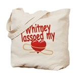 Whitney Lassoed My Heart Tote Bag