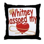 Whitney Lassoed My Heart Throw Pillow