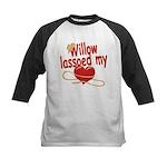 Willow Lassoed My Heart Kids Baseball Jersey