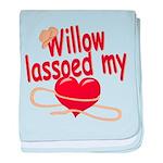Willow Lassoed My Heart baby blanket