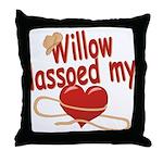 Willow Lassoed My Heart Throw Pillow