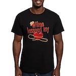 Wilma Lassoed My Heart Men's Fitted T-Shirt (dark)