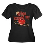 Wilma Lassoed My Heart Women's Plus Size Scoop Nec