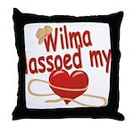 Wilma Lassoed My Heart Throw Pillow