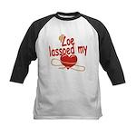 Zoe Lassoed My Heart Kids Baseball Jersey