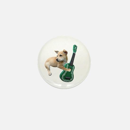 Dog Playing Ukulele Mini Button