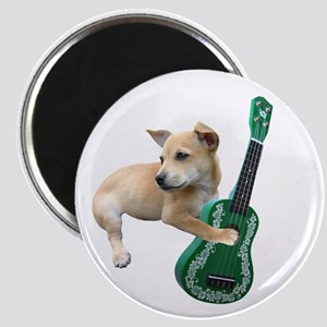Dog Playing Ukulele Magnet