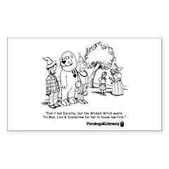 Paralegal In Oz Sticker (Rectangle 50 pk)