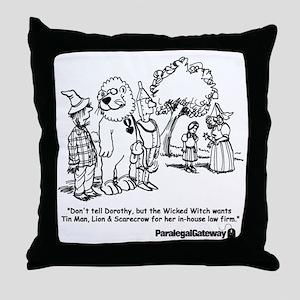Paralegal In Oz Throw Pillow