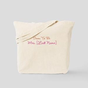 Orange & Pink Custom Soon to Be Mrs. Tote Bag