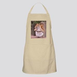 Red Squirrel Eating Apron