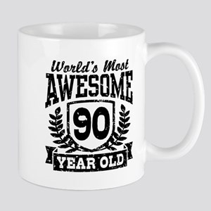 90th Birthday 11 oz Ceramic Mug