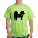 Chow Chow Breast Cancer Support Green T-Shirt