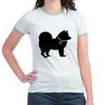 Chow Chow Breast Cancer Support Jr. Ringer T-Shirt