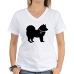 Chow Chow Breast Cancer Support Women's V-Neck T-S