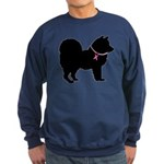 Chow Chow Breast Cancer Support Sweatshirt (dark)