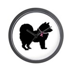 Chow Chow Breast Cancer Support Wall Clock