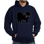 Chow Chow Breast Cancer Support Hoodie (dark)