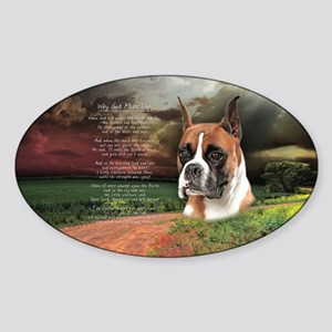 """Why God Made Dogs"" Boxer Sticker (Oval)"