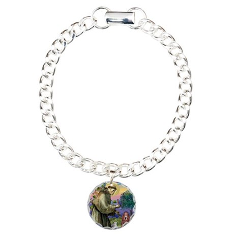 St. Francis & Basset Charm Bracelet, One Charm