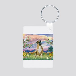 Cloud Angel & Boxer Aluminum Photo Keychain