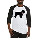 Cocker Spaniel Breast Cancer Support Baseball Jers