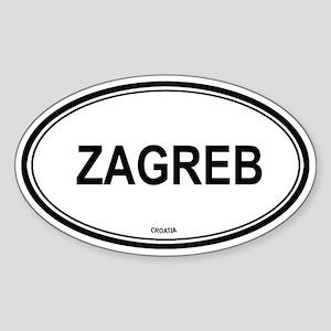 Zagreb, Croatia euro Oval Sticker