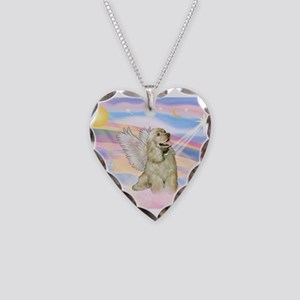 Cocker Spaniel Angel (Buff) Necklace Heart Charm