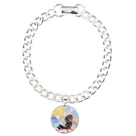 Clouds/Dachshund Angel Charm Bracelet, One Charm