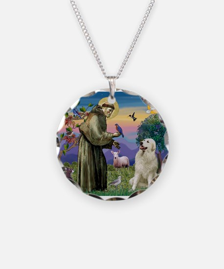 St Francis / Great Pyrenees Necklace