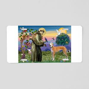 St Francis / Greyhound (f) Aluminum License Plate