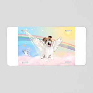 Angel /Jack Russell Terrier Aluminum License Plate